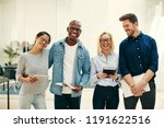 confident group of diverse... | Shutterstock . vector #1191622516