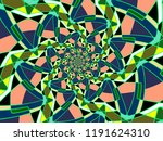a hand drawing pattern made of... | Shutterstock . vector #1191624310
