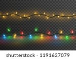 christmas lights.  glowing... | Shutterstock .eps vector #1191627079