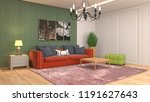 interior of the living room. 3d ... | Shutterstock . vector #1191627643