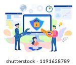concept are internet  data... | Shutterstock .eps vector #1191628789