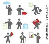 business icon. vector set for... | Shutterstock .eps vector #119163274