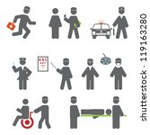professions. set vector icons... | Shutterstock .eps vector #119163280