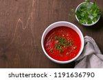 delicious vegan soup of baked...   Shutterstock . vector #1191636790