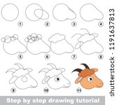kid game to develop drawing... | Shutterstock .eps vector #1191637813