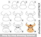 kid game to develop drawing... | Shutterstock .eps vector #1191637819