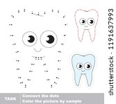 tooth funny. dot to dot... | Shutterstock .eps vector #1191637993