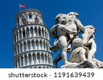 pisa. italy. 11.02.16. the... | Shutterstock . vector #1191639439