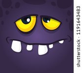 Happy Cool Cartoon Monster Fac...