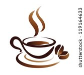 sketch of coffee cup  stylized... | Shutterstock .eps vector #119164633