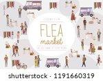 flea market poster with people... | Shutterstock .eps vector #1191660319