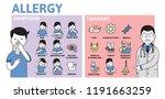allergy infographics. allergy... | Shutterstock .eps vector #1191663259