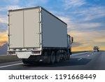 white truck on highway road... | Shutterstock . vector #1191668449
