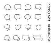 vector image set of speech... | Shutterstock .eps vector #1191672370