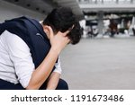anxiety stressed young asian... | Shutterstock . vector #1191673486