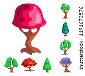 vector illustration of tree and ...   Shutterstock .eps vector #1191673576