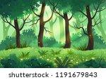 summer fantasy forest landscape ...