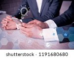 asian businessman working on... | Shutterstock . vector #1191680680