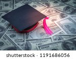graduation cap one hundred... | Shutterstock . vector #1191686056