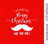 merry christmas calligraphic... | Shutterstock .eps vector #1191690610
