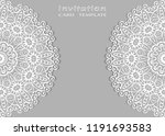 invitation or card template... | Shutterstock .eps vector #1191693583