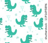 cute seamless pattern with... | Shutterstock .eps vector #1191695896