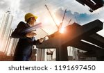 construction engineer manager... | Shutterstock . vector #1191697450