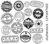 houston texas stamp vector art... | Shutterstock .eps vector #1191697603