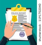 clipboard with police report...