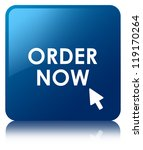 order now glossy blue reflected ... | Shutterstock . vector #119170264