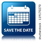 save the date glossy blue... | Shutterstock . vector #119170270
