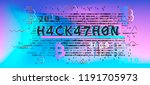 hackathon event poster ... | Shutterstock .eps vector #1191705973