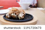 takoyaki japanese food which... | Shutterstock . vector #1191720673
