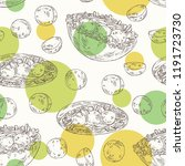 seamless pattern with falafel... | Shutterstock .eps vector #1191723730