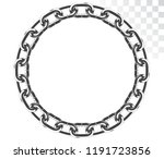vector round frame of chains... | Shutterstock .eps vector #1191723856