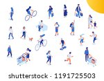different isomeric people... | Shutterstock .eps vector #1191725503