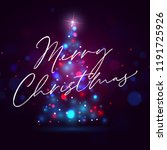shining merry christmas tree... | Shutterstock .eps vector #1191725926