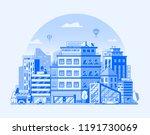 modern city street landscape... | Shutterstock .eps vector #1191730069