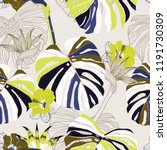 trendy seamless pattern vector... | Shutterstock .eps vector #1191730309