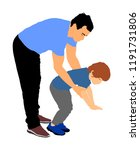 physiotherapist and kid  boy... | Shutterstock .eps vector #1191731806