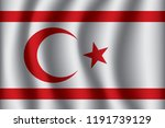 flag of northern cyprus.... | Shutterstock .eps vector #1191739129