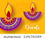 happy diwali wallpaper design... | Shutterstock .eps vector #1191741559