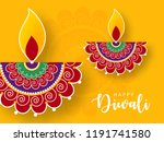 happy diwali wallpaper design... | Shutterstock .eps vector #1191741580