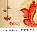 happy diwali wallpaper design...   Shutterstock .eps vector #1191741610