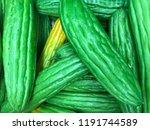 fresh long bitter melon  bitter ... | Shutterstock . vector #1191744589