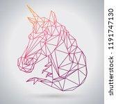 hipster polygonal fantasy... | Shutterstock .eps vector #1191747130