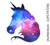 artistic silhouette of fantasy... | Shutterstock .eps vector #1191747256