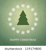 Happy Christmas vector card background - stock vector