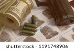 crime and violence concept.roll ... | Shutterstock . vector #1191748906