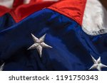 american flag textile close up. ... | Shutterstock . vector #1191750343